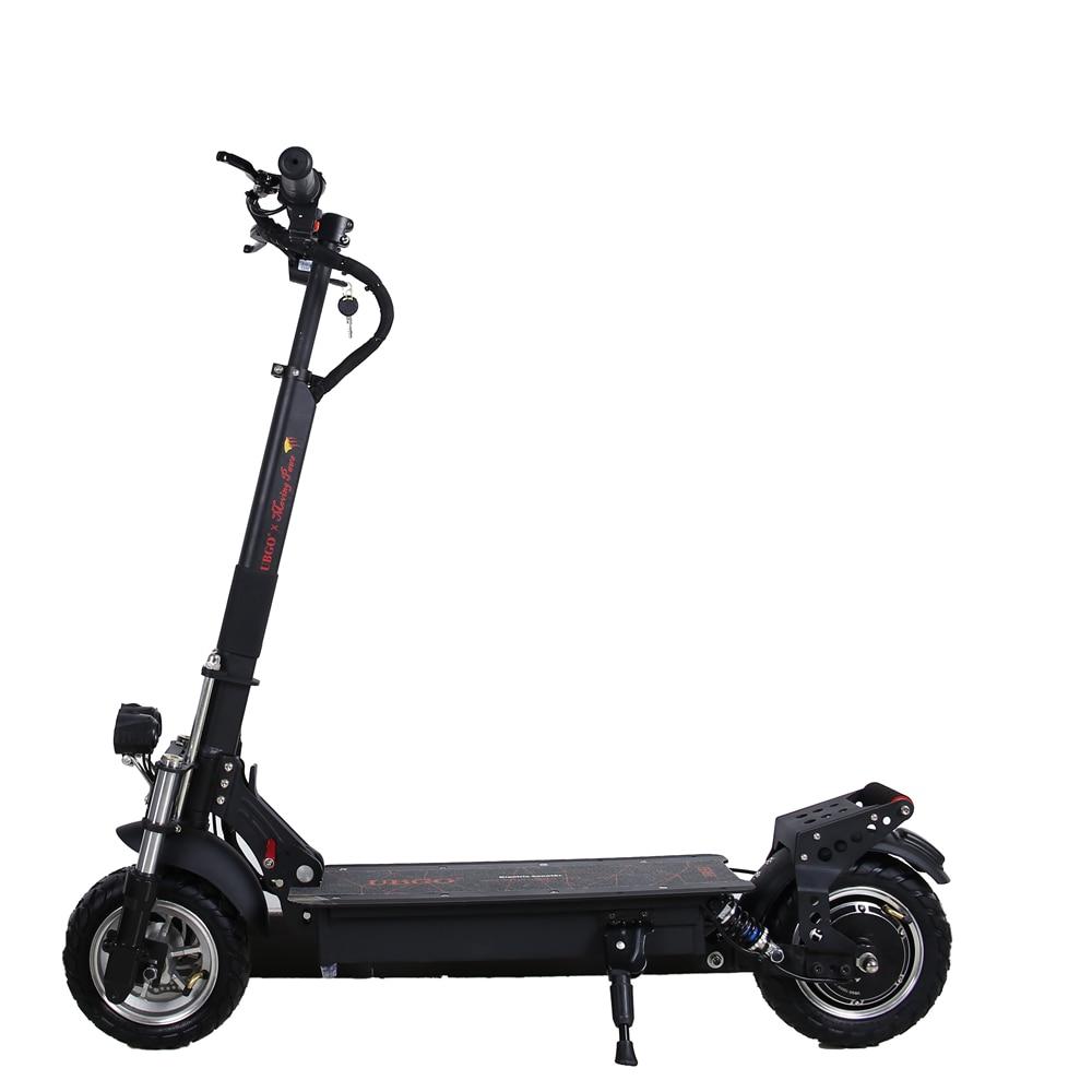 UBGO 1004 solo conductor 2019 Motor suspensión hidráulica 10 pulgadas eléctrico plegable scooter con 1000 W turbina Motor