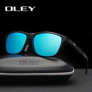 Мужские и женские классические солнцезащитные очки OLEY, классические поляризационные очки в полной оправе из алюминиево-магниевого сплава, ...