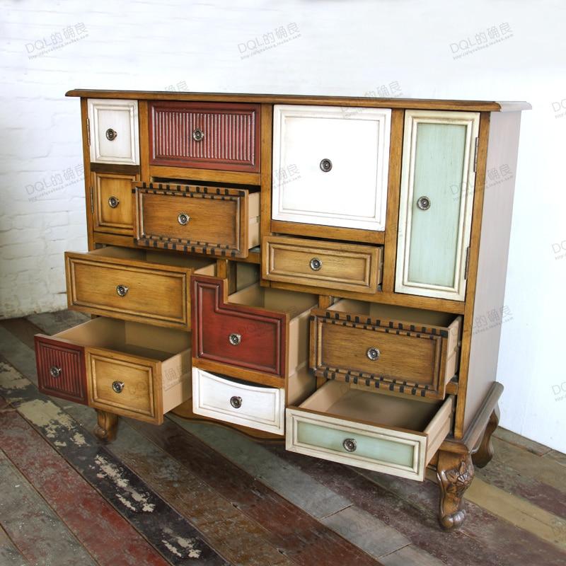 retro wood furniture. european american retro wood furniture living room cabinet entrance foyer drawers sideboard special drawer minimalist modern e