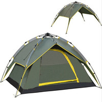 3 4 Person Hydraulic Automatic Camping Tent Double Layer Instant Setup Outdoor Family Tent Portable Backpacking Tent for Hiking Tents     -