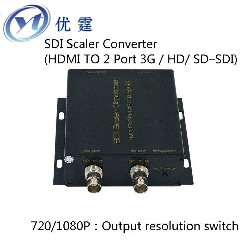 HDMI TO SDI Converter Scaler 1X2( 2 Port 3G HD SD)hdmi to sdi conver 720p to 1080p
