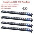 4 шт./лот Светодиодная панель RGBW 4 в 1 цвет 18x4 Вт одиночное управление светодиодные Настенные светильники идеально подходят для сцены  вечери...