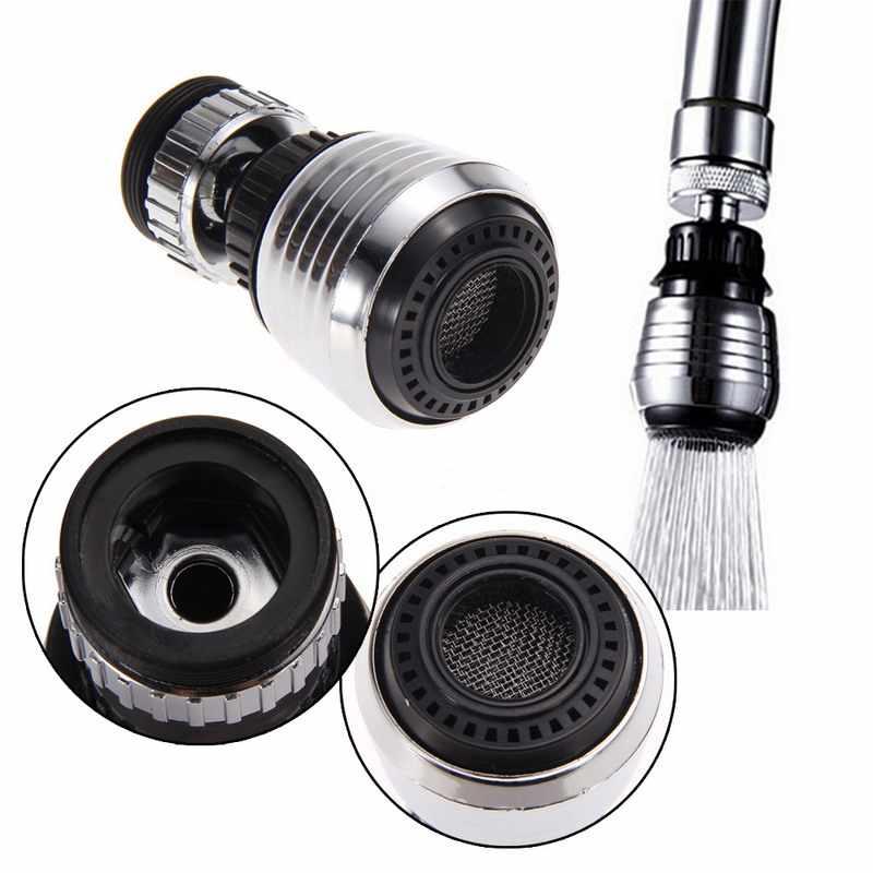 360 Memutar Hemat Air Keran Air Pendingin Aerator Diffuser Putar Faucet Nozzle Filter Adaptor Rumah Dapur Aksesoris