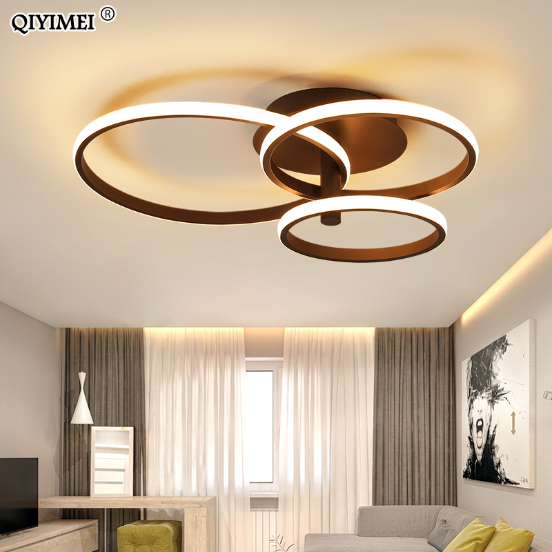 New Design LED Ceiling Light For Living RoomDining Bedroom White Coffee Finnished Indoor Home Lighting Fixture Lamparas De Techo