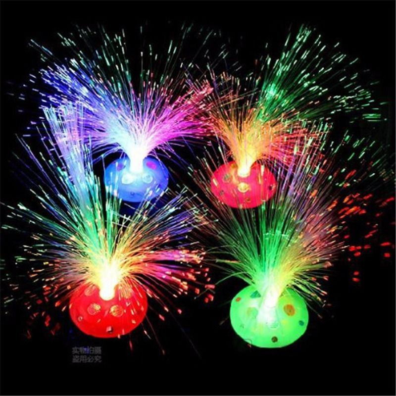 Home Decoration Color Changing LED Fiber Optic Nightlight Lamp Beautiful Romantic Small Night Light For Chrismas Party