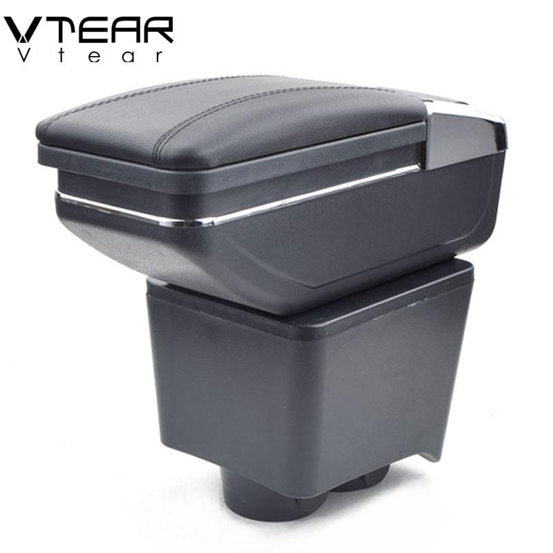 Vtear Pour VW Polo boîte accoudoir central boîte de contenu de Magasin produits intérieur Accoudoir De Stockage voiture de coiffure accessoires pièces 04 -10