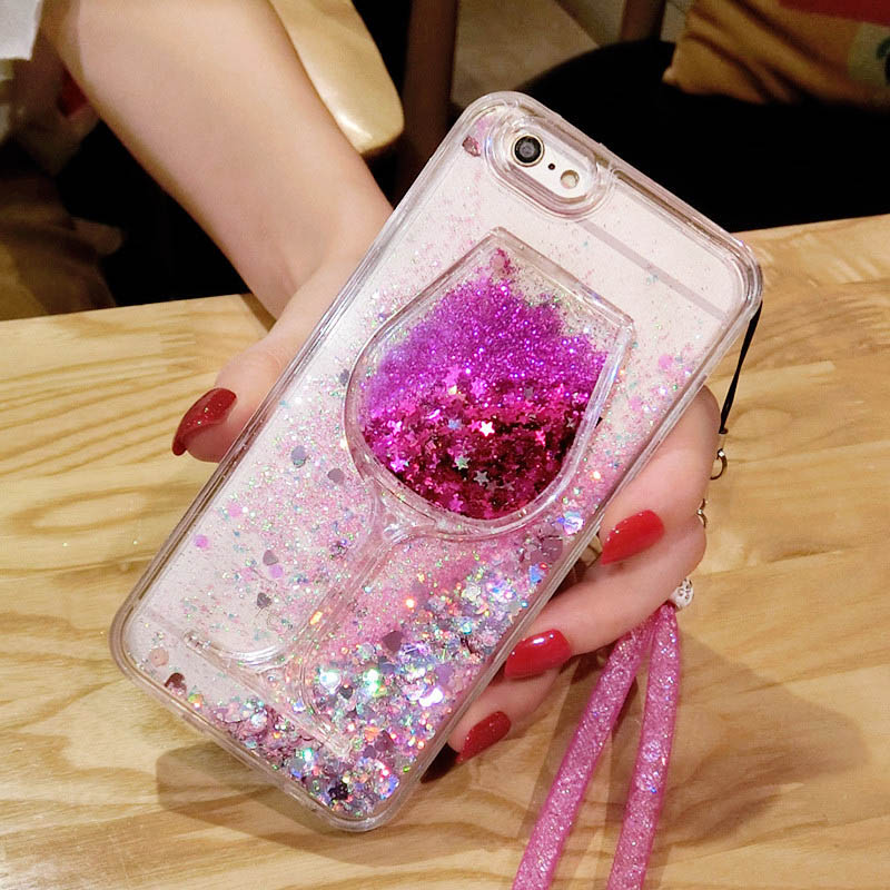 Cellphones & Telecommunications Rhinestone Cases For Huawei Mate10 Lite Pro Nova 2 Plus 3 Cute Rhinestone Bling Diamond Wine Cup Quicksand Liquid Sand Soft Phone Case Back Cover