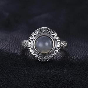 Image 2 - Jewelrypalace Винтаж 1.8ct натуральная Лабрадорит резные Solitaire палец кольцо стерлингового серебра 925 Элитный бренд хороший Красивые ювелирные изделия