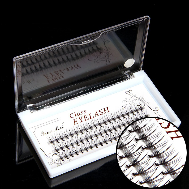 0 1mm 60pcs Professional Makeup Individual Cluster Eye Lashes Grafting Fake False Eyelashes in False Eyelashes from Beauty Health