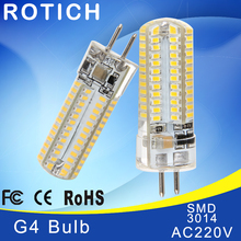 Mini G4 LED Lamp 3014 LED Bulb 2W 3W 5W AC220V LED G4 SMD Light Dimmable 360 Beam Angle Chandelier Lights Replace Halogen Lamps цена и фото