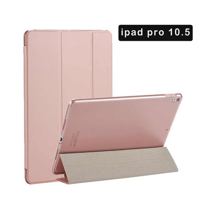 Para IPad Pro/IPad Air 10,5 nueva funda inteligente de defensa eficiente Auto Sleep Universal 3 Fold Connector funda rígida magnética