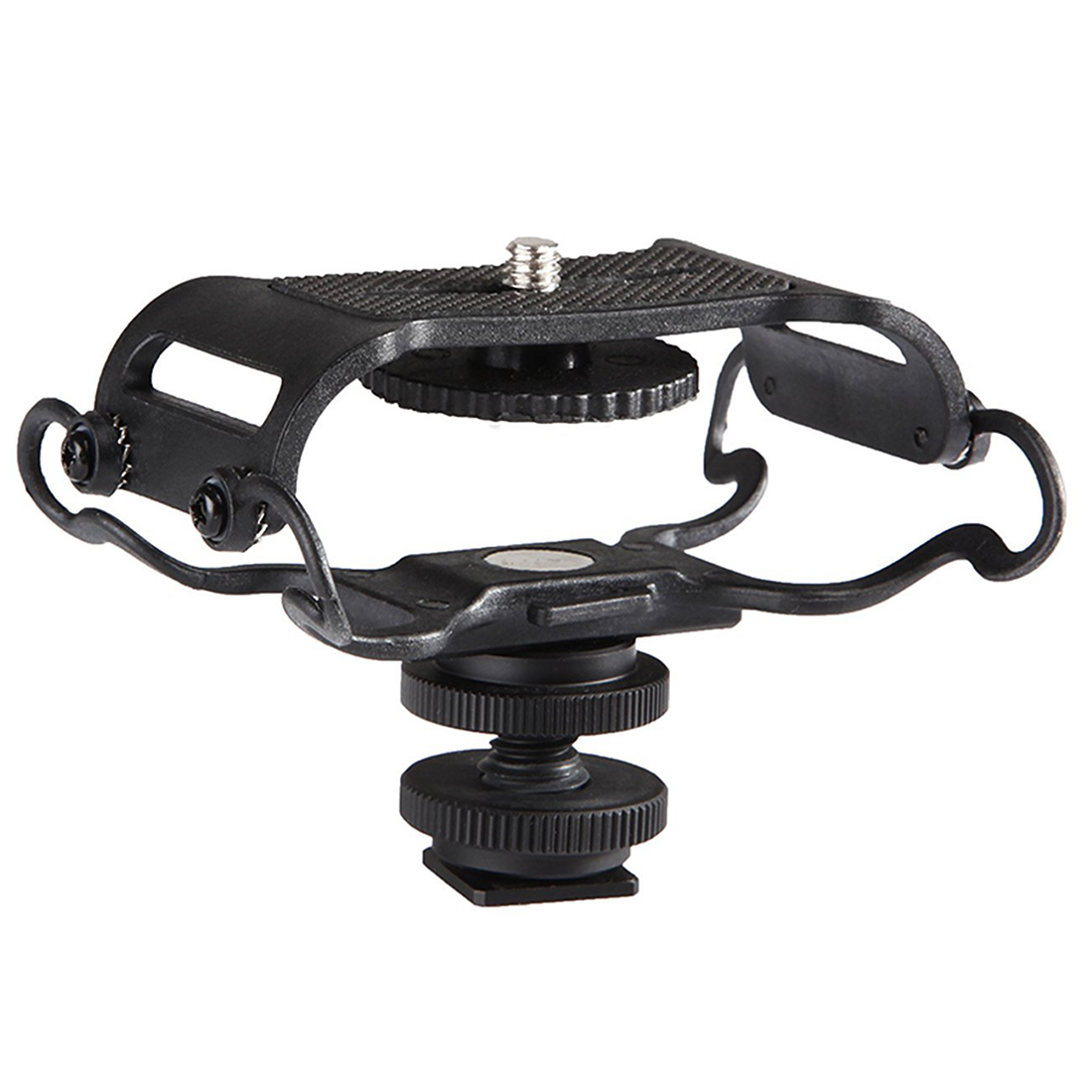 TTKK Microphone and Portable Recorder Shock Mount - Fits the Zoom H4n, H5, H6, Tascam DR-40, DR-05, DR-07