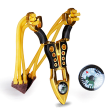 Outdoor Powerful Catapult Metal Rubber Band Toy Sling Shot Sports Games Slingshot Aluminium Catapult Hunting Games Bows недорого