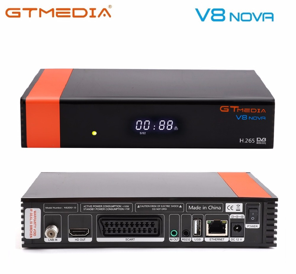 GTMEDIA V8 NOVA Satellite Receiver receptor DVB S2 Built Wifi Dongle H 265 HD 1080P Spain