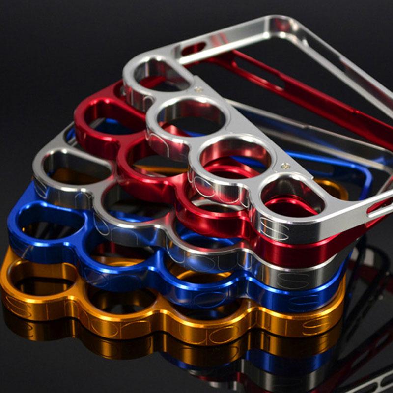 imágenes para 100% de aleación de aluminio de boxeo para iphone 5 5s parachoques de moda señor anillos knuckles finger frame teléfono case cover para iphone 5G