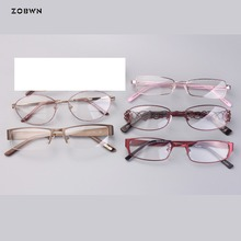 Mix wholesale metal classic eyeglasses Retro Half frame Glasses Women Eyewear Frames Female vintage Brand Designer Frame