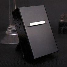 Магнитный Алюминиевый чехол для сигарет держатель для табака карманная коробка контейнер для хранения подарочная коробка