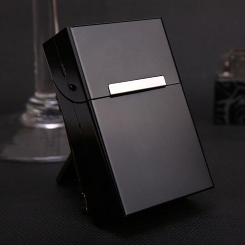 Magnetic Cigarettes Aluminum Cigarette Case Cigar Tobacco Holder Pocket Box Storage Container Gift Box