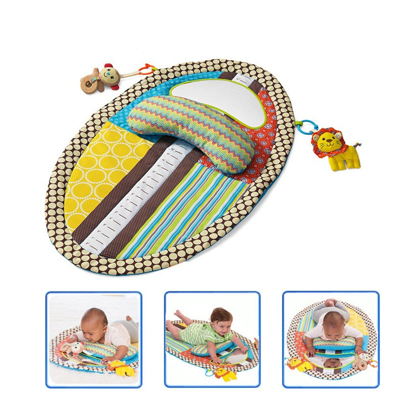 ФОТО 2016 New Baby Play Mat Detachable Changing Mat Infant Toddlers Height Measuring Early Education Toys With Pillow Safety Mirror