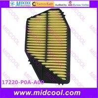 O envio gratuito de alta qualidade filtro de ar para 17220-p0a-a00 17220-p0a-000 17200-poc-y00 17220-p04-000 17220-poc-a00