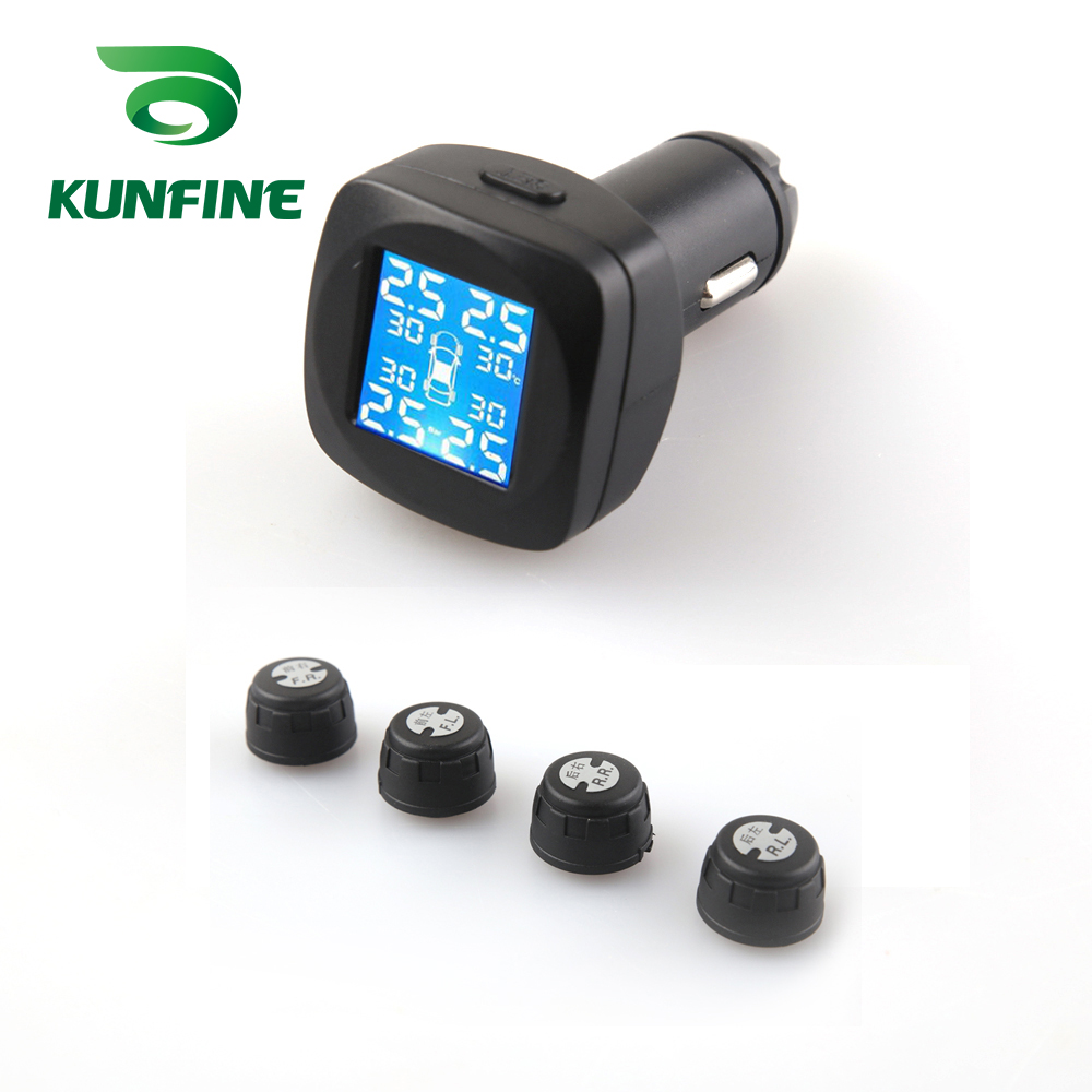 Smart Car TPMS Tyre Pressure Monitoring System cigarette lighter Digital LCD Display Auto Security Alarm Systems (5)