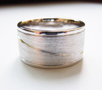 Sterling Silver Plain Band Ring 12MM Handmade All Sizes