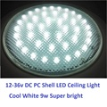 12V-36V DC 220MM Cold White LED Dome Light PC Shell Ceiling Lamp Caravan/Camper Trailer/RV Camping Accessories