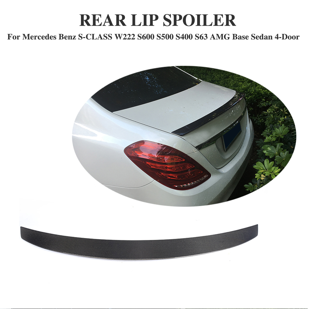 Carbon Fiber Car Rear trunk lip spoiler Boot Wing for Mercedes Benz S Class W222 S400 S65 AMG 2014 -2017
