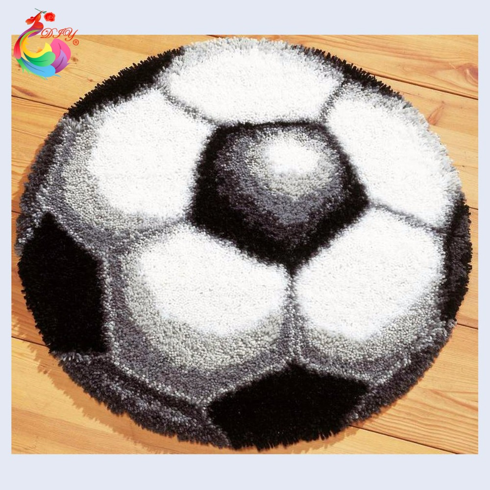 Football Pictures Latch Hook Rug Kits Embroidery Crochet