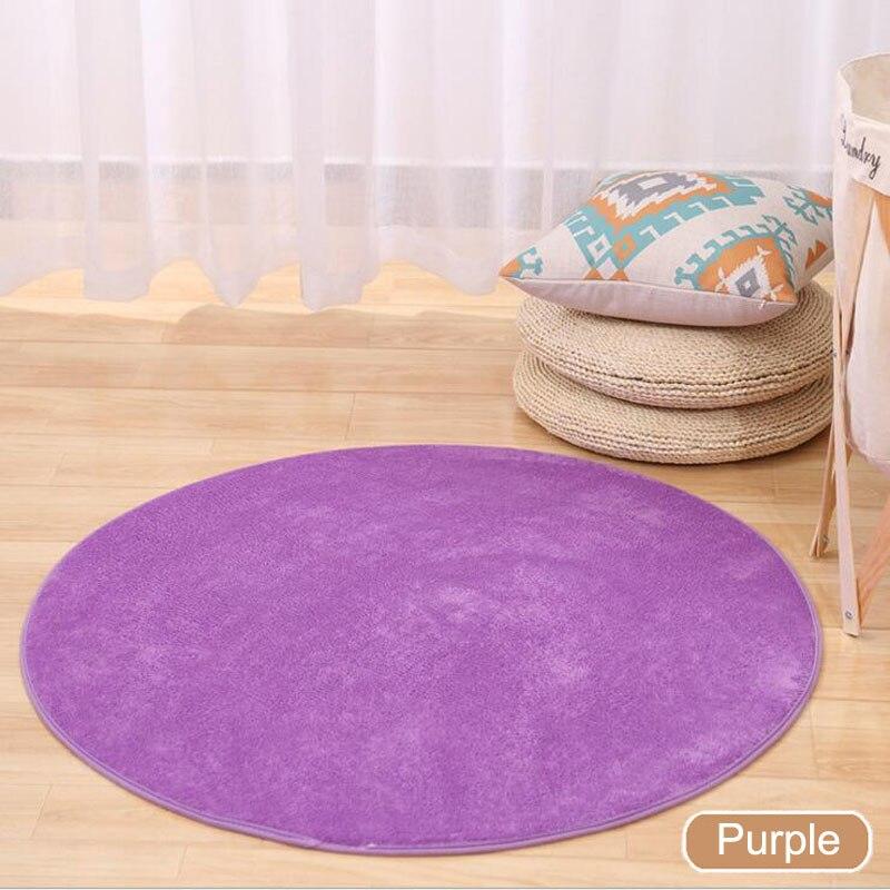 ONEONEY 80*80 простые приветственные круглые коврики с принтом для ванной, кухни, коврики для гостиной, противоскользящие - Цвет: 10