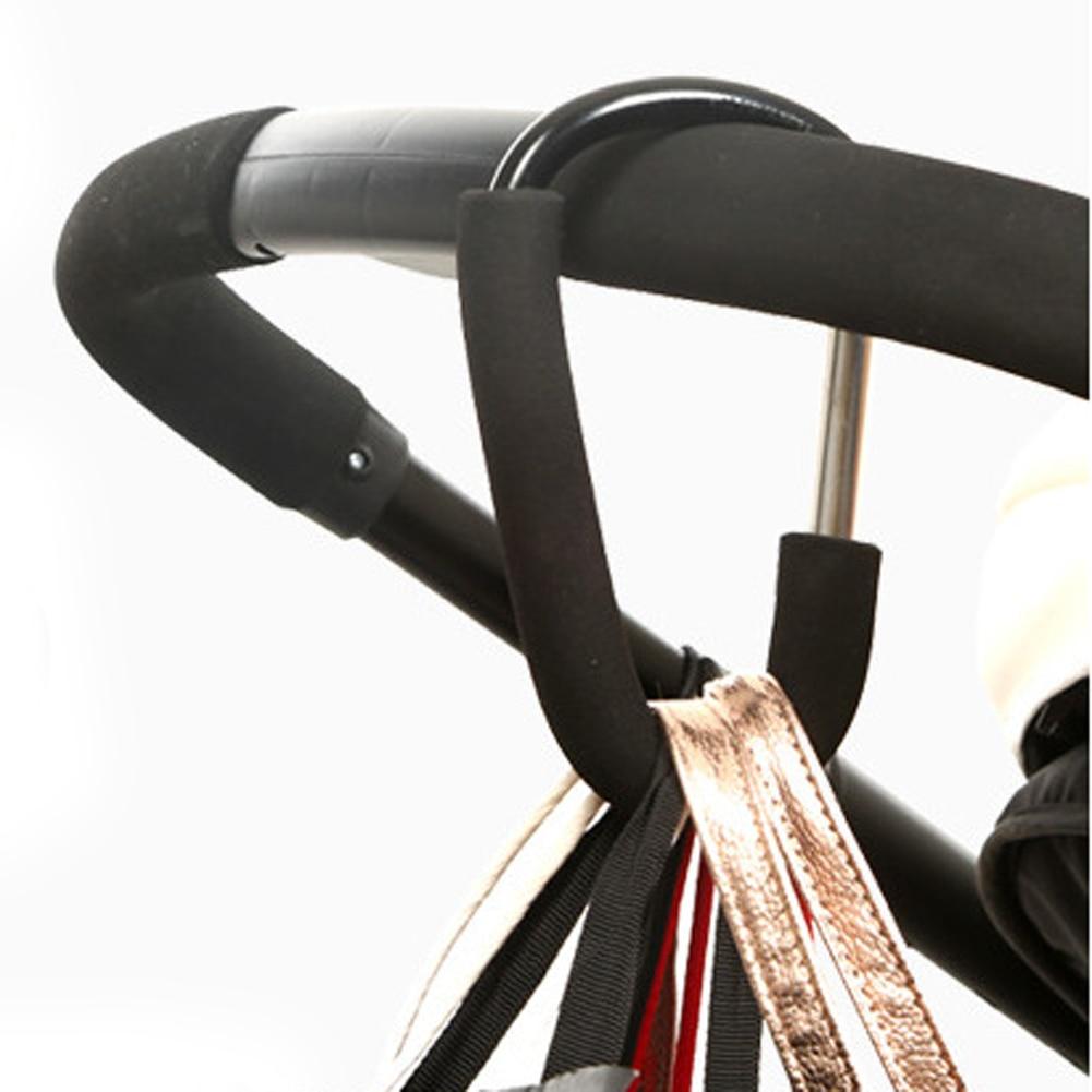Aluminium Baby Stroller Hooks High Quality Button Carabiner Shopping Bags Carriage Hooks Pushchair Pram Bags Carrier Hook Clip