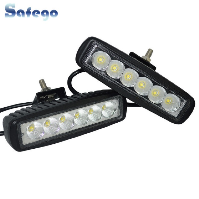 2pcs crno kućište spot offroad 18W LED vanjska radna svjetiljka 18w - Svjetla automobila - Foto 1