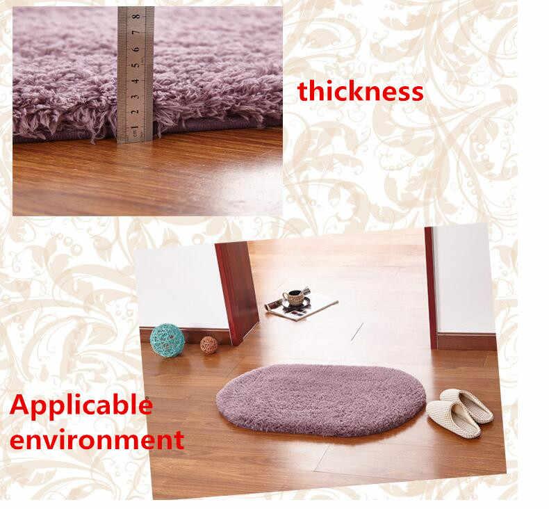 Oval Berber Fleece Teppich Ellipse Form Weiche Teppiche Artic Samt Boden Matte mit Plüsch und Flusen Teppich Teppiche für Schlafzimmer bad