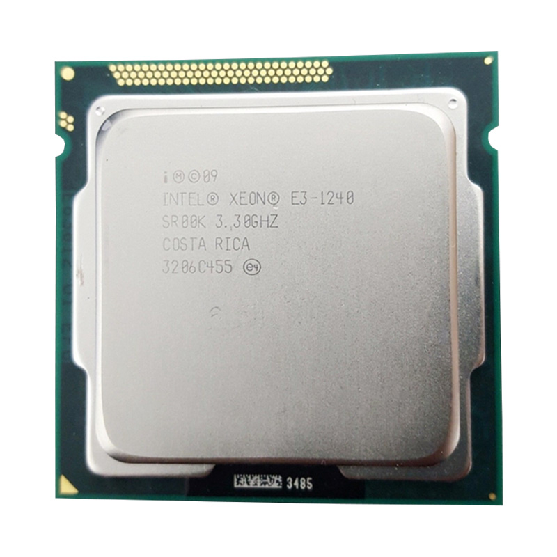 Intel Xeon E3 1240 3.3GHz 8M Cache LGA 1155 CPU Processor SR00K Quad-Core