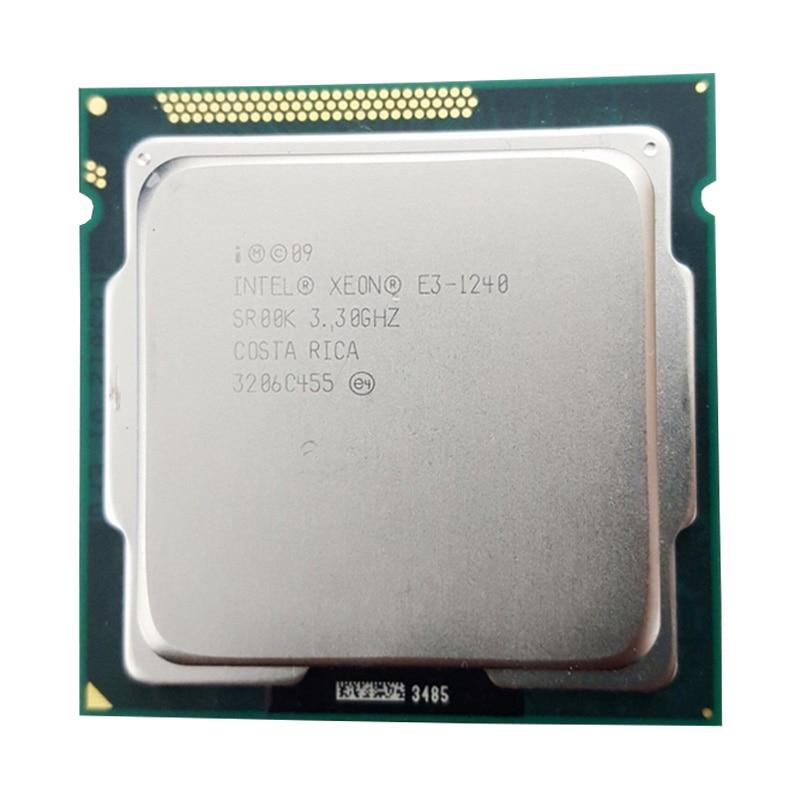 Intel Xeon E3 1240 3.3 GHz 8 M Cache LGA 1155 processeur d'unité centrale SR00K Quad-Core