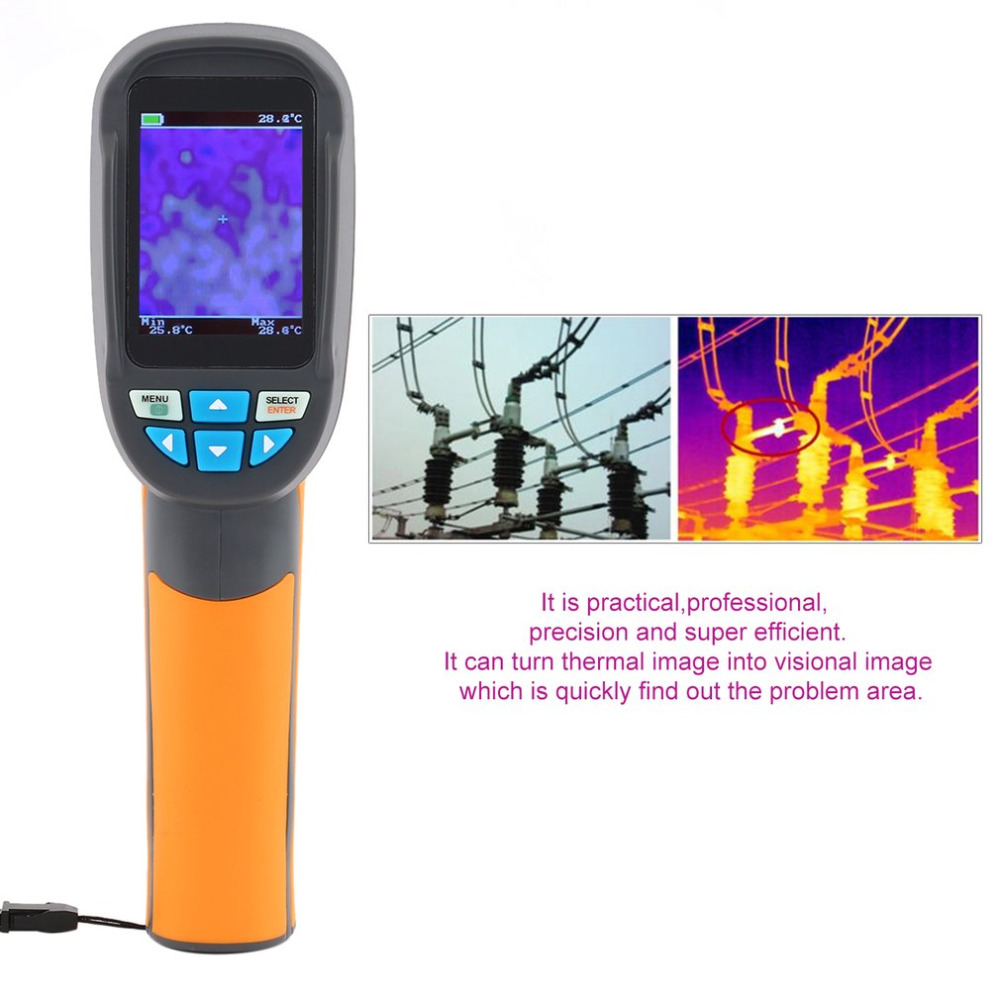 HT-02D Handheld Thermal Imaging Camera With 2 inch Colorful Screen LCD 2