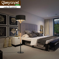 Qiseyuncai Nordic modern wooden Floor lights minimalist fashion vertical bedroom study living room cloth Floor Lamps