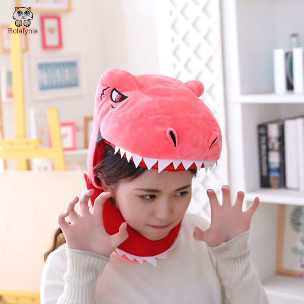 BOLAFYNIA This cute plush dinosaur headgear dinosaur hat plush toy hat stuffed toy capBOLAFYNIA This cute plush dinosaur headgear dinosaur hat plush toy hat stuffed toy cap