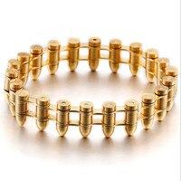 Skull Biker Men's Bracelet for Men Motorcycle Link 316L Stainless Steel Bracelet Fashion Bracelet Color Gold/Silver Retro Gifts