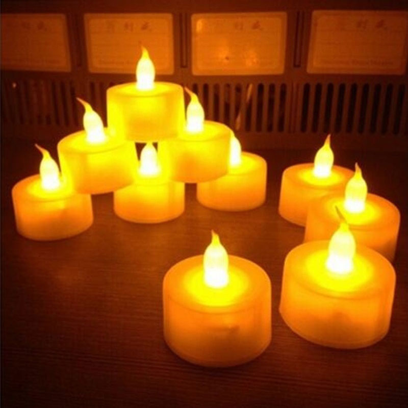 No Smoke Candle Light Pocket Simulation Flameless Atmosphere Proposal Love Pray For Party Wedding Valentine's Day Battery Lamp