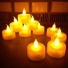 No Smoke Candle Light pocket Simulation Flameless atmosphere Proposal love pray For Party Wedding Valentines Day Battery lamp
