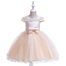 Girls Thanksgiving Party Dress 10th Birthday Elegant Evening Beading Shoulderless Princess for Unicorn