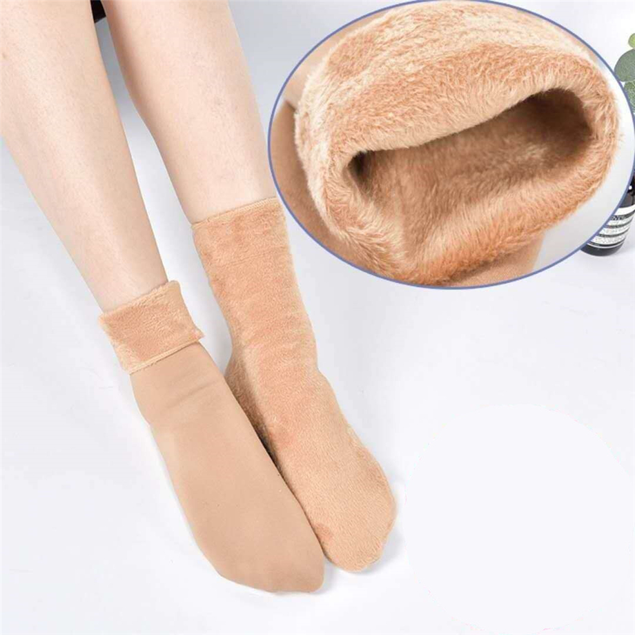 Women Plus Velvet   Socks   Autumn Winter Keep Warm Thicken   Socks   Wool Female Velvet   Socks   Thick Thermal Sleeping   Sock