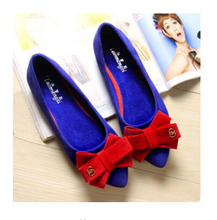 Spring New Women Suede Leather Flats Fashion Summer Pointy Toe Soft Slip On Ballerina Ballet Flats Comfortable Flat Shoes