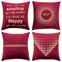 Pack of 4 Decorative Velvet Pillow Covers Soft Square Throw Pillow Covers Solid Cushion Covers Pillow Cases for Sofa Bedroom