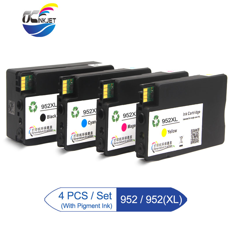 4P For HP 952XL 952 XL Ink Cartridge Officejet Pro 7740 8210 8216 8702 8710 8715