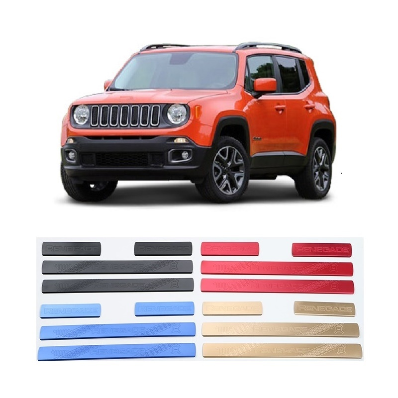 Suitable for Jeep Renegade 2015 2016 Aluminum Alloy Scuff Plate Protector Entry Guard Door Sill Cover Car Accessories