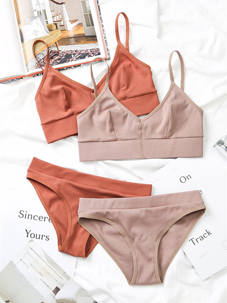 TERMEZY Wireless-Bras Bra-Set Sexy Underwear Cotton Lingerie Push-Up Comfortable Fashion