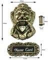 Bronce antiguo chino puerta principal del león manija aldaba de manejar bestia unicornio ( tamaños : 165 mm * 103 mm, tamaño del anillo : 85 mm * 95 mm )