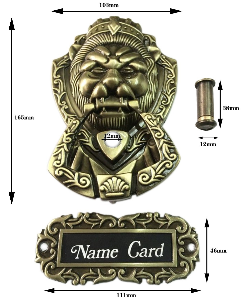 Bronze Antique Chinese lion head door handle knocker handle unicorn beast(Sizes:165mm * 103mm,Ring size:85mm*95mm) red copper color antique chinese yuan fu lion head door handle knocker handle unicorn beast